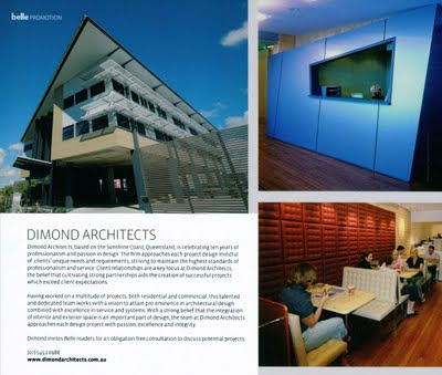 Dimond Architects featured in Belle magazine...