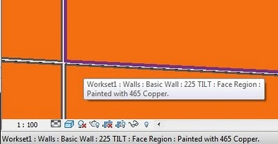How to determine the material that has been painted on a surface