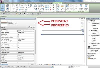 Revit 2011 Secret #1 - Persistent Properties Palette