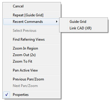 Revit 2011 Secret #2 - Right Click Recent Commands