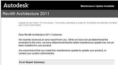 Maintenance Update 1 Available for Revit 2011