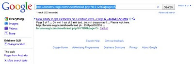 Accessing AUGI via the Google Cache