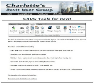 Free Revit Add-ins from CRUG - some very useful stuff