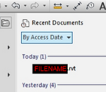 Recent Documents Sorting Options