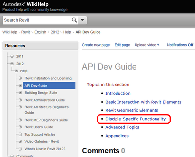 Revit 2012 API Developer's Guide now live on WikiHelp