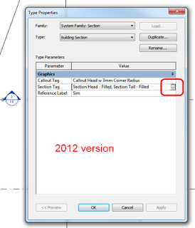 Revit 2012 has Improved Section Tag Modification Workflow