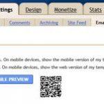 Blogger mobile templates for Blogspot blogs