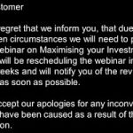 Maximise your Investment in BIM webinar postponed