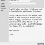 RAC Users – lets get the Save Selection feature now!