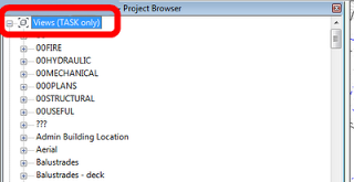 Finding views in the Project Browser