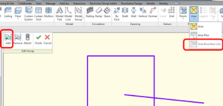 How to include Area Boundary Line in a Model Group