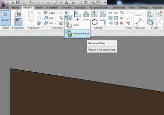 How do you Remove Paint in Revit 2012?