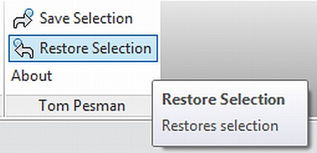 Free Save and Restore Selection Add-in for Revit