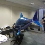 Attacked at my desk … by a flying shark