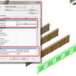Old School Simpler Railings without Baluster Placement dialog box