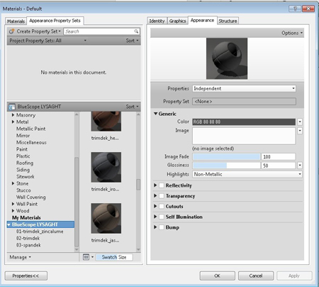 Best Material Definition Delivery method from Suppliers into Revit