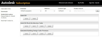 New Subscription Product Download interface - ready for Revit 2013 !