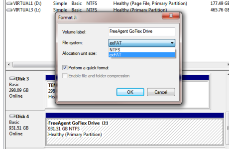 Formatting large drives as FAT32 in Windows