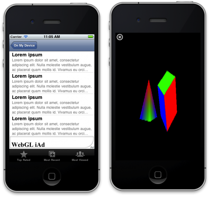 Using WebGL on an Ipad or other IOS device
