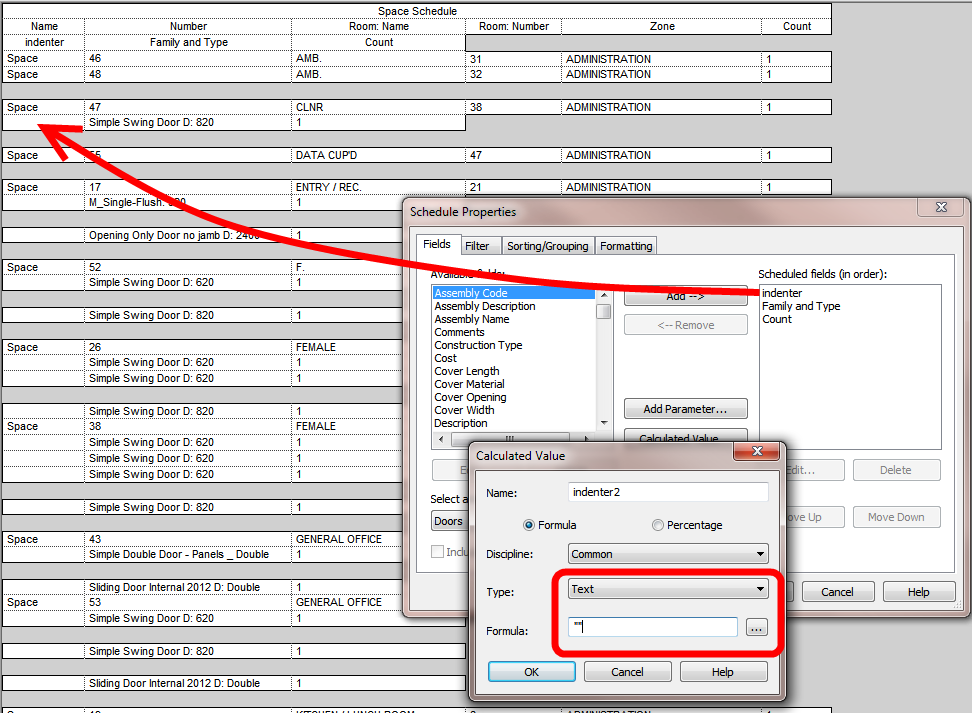 embedded schedule Archives » What Revit Wants