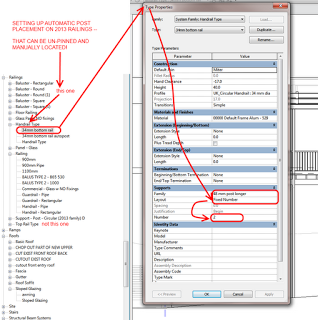 Automatic and Manual Railing Support locations in Revit 2013