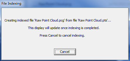 Utility to index point cloud before importing to Revit