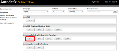 Building Design Suites for 2014 available for download