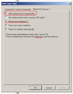 Copy Path and Filename in Windows XP 64-bit