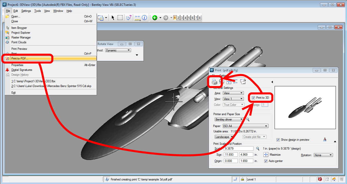 Creating 3d pdfs from navisworks and revit using fbx for Pdf a cad