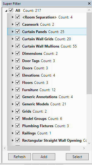 Free SuperFilter add-in for Revit 2014