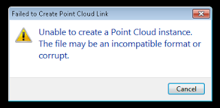 PCG Point Clouds exported from Recap will not import into Revit 2013