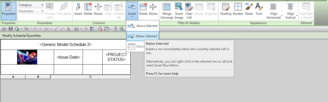 Creating a Generic Schedule for Custom Data in Revit 2014