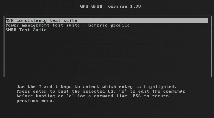 BIOS Implementation Test Suite (BITS)