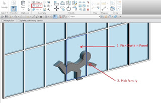 Using a Solid Form as a Void to cut Curtain Panels and Mullions
