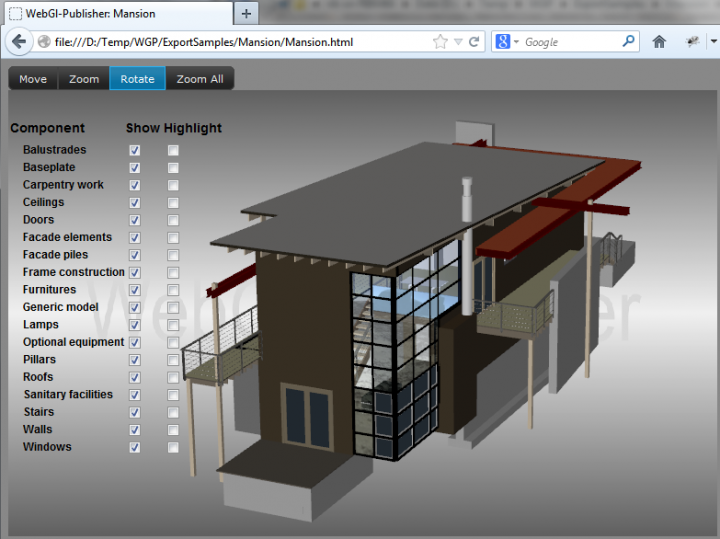 WebGL addin for Revit to upload lightweight models to the Cloud