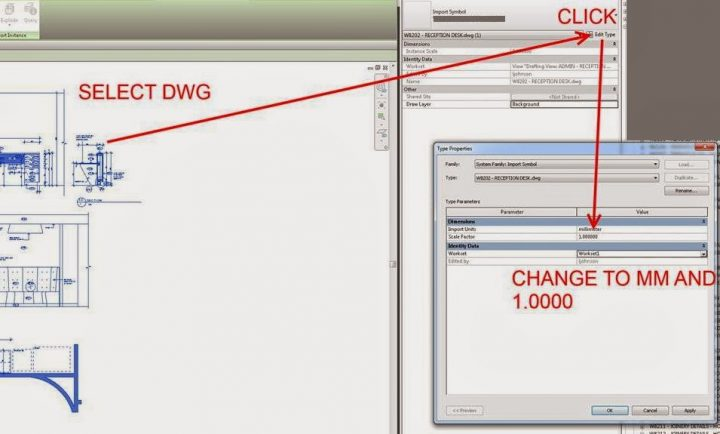 Fix DWG Scaling in Revit after Re-saving File