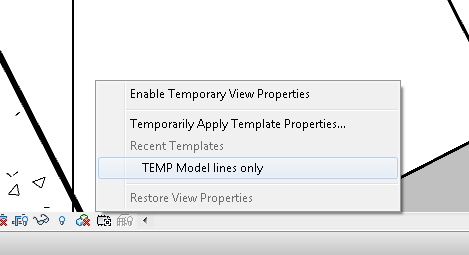 Temporary View Properties has a Recently Used List