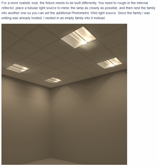 Lighting for Renders in Revit