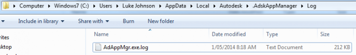 Autodesk Application Manager Log File Location