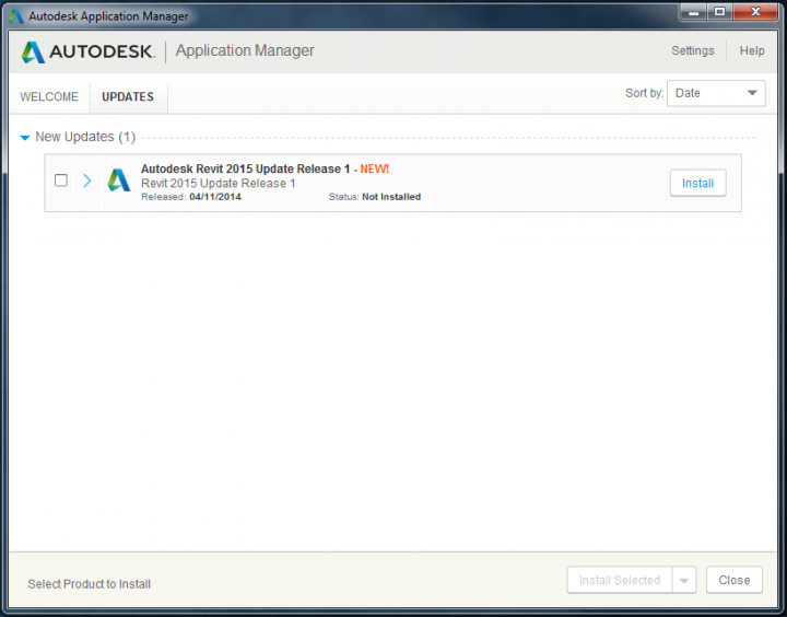 Autodesk Application Manager is already helpful – Revit 2015 Update Release 1