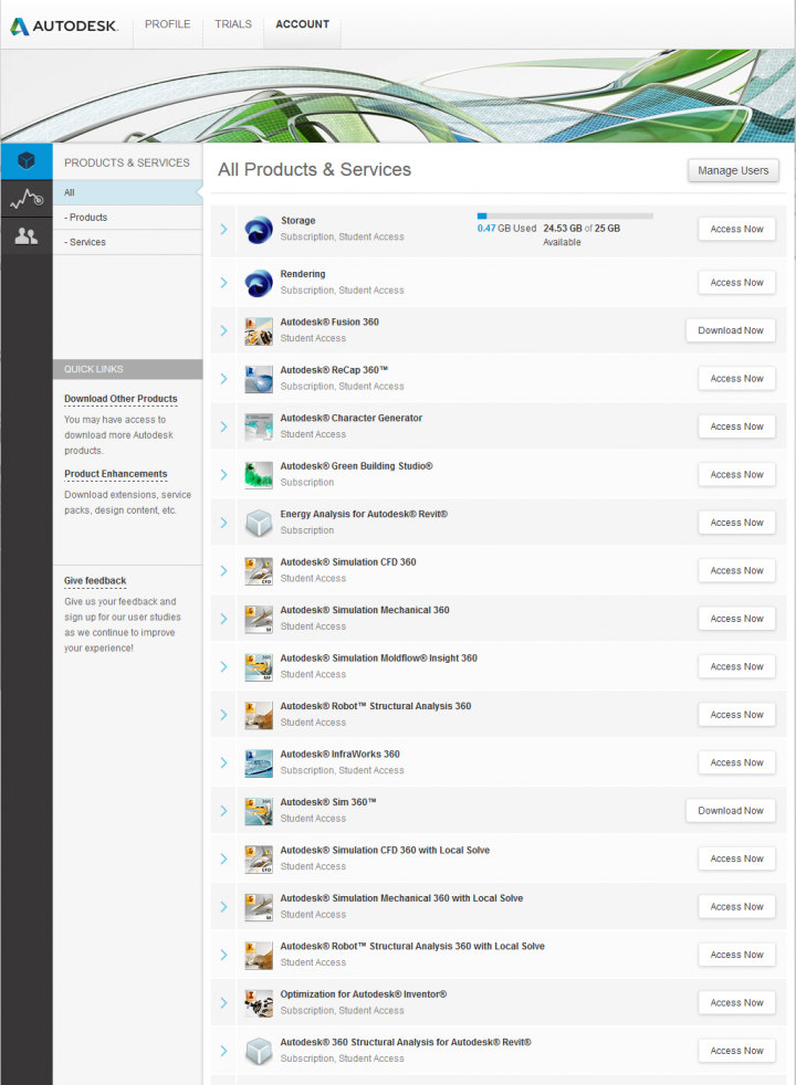 Have you checked your Autodesk – Account page?