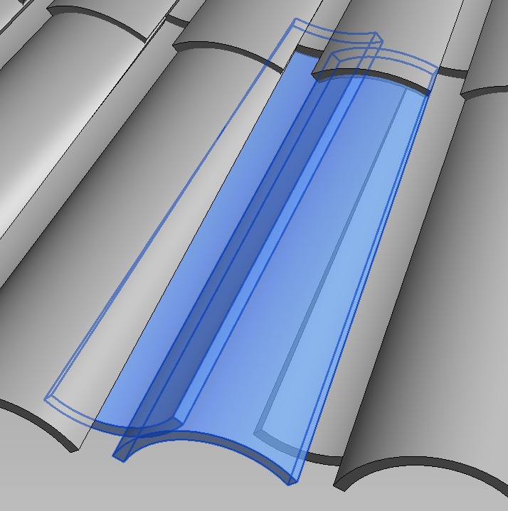 Adaptive Roof Tile Family For Cone Shaped Roof What Revit Wants