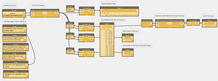 Parse Revit Warnings with Dynamo