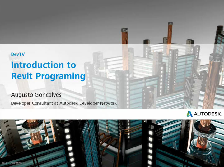 DevTV Revit API videos updated for 2015