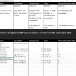 Excel template for download: Navisworks Quantification Catalog Creation Template 2014 and 2015