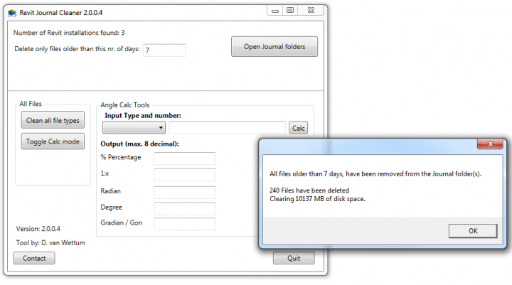 Free Revit Journal Cleaner updated for 2015