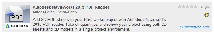 Navisworks 2015 PDF Reader App
