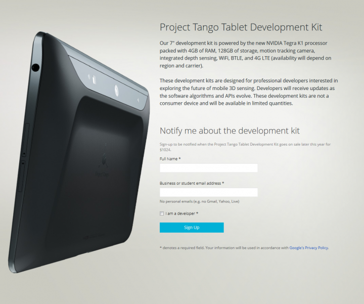 Project Tango and the Implications of Commodifying 3D spatial scanning for AEC