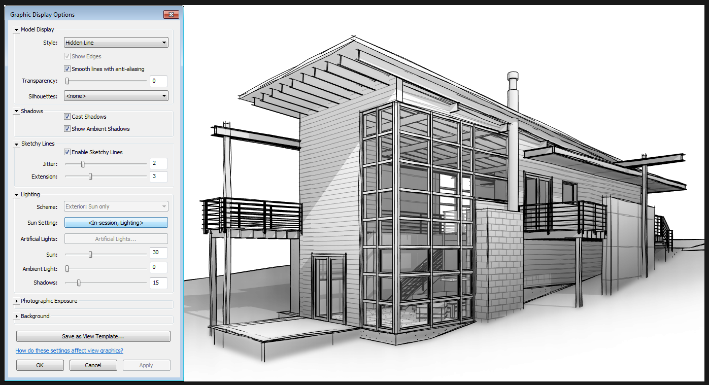 Nice Sketchy Lines View Settings For Revit 2015 187 What
