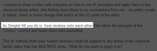 Inverse Kinematics for Revit in One Sentence